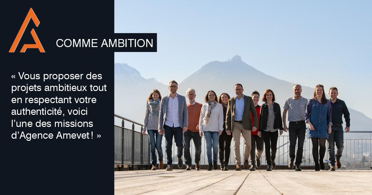 ambition, photographie équipe agence amevet