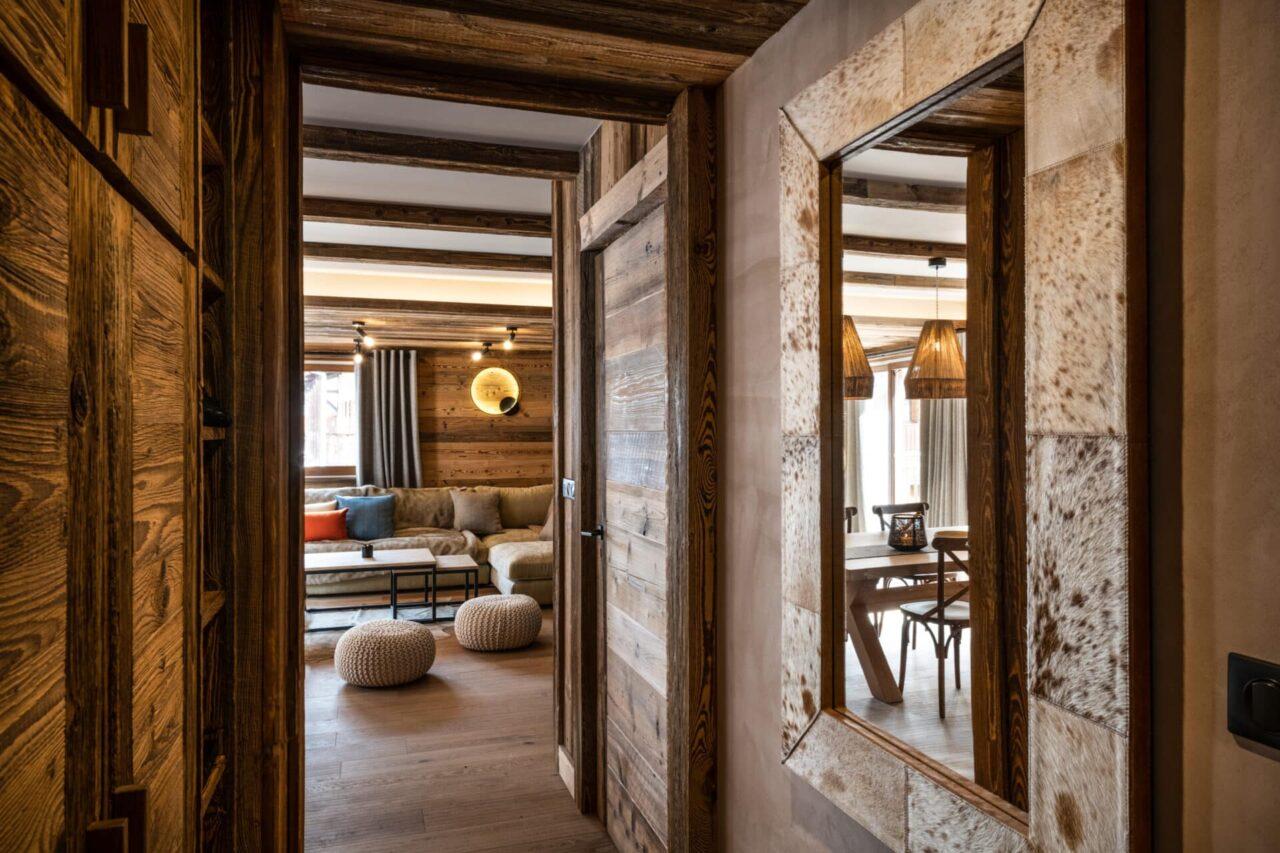 Chalet - décoration ambiance montagne vieux bois - style contemporain
