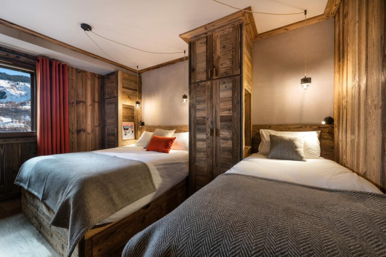 chalet - chambre décoration montagne vieux bois